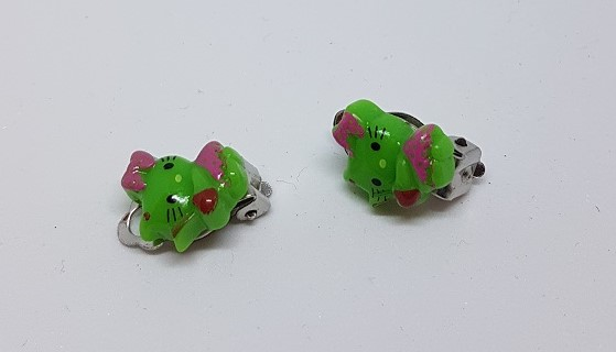 Hello Kitty grön clips