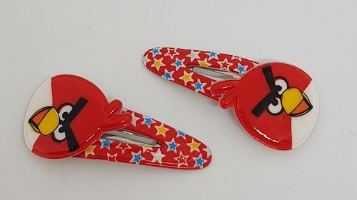 Hårclips Angry bird 2 Pack