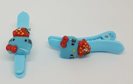 Hårspänne Hello Kitty ljusblå 2 pack