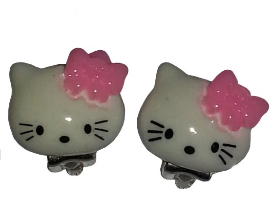 Hello Kitty ljusrosa rosett clips