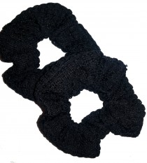 Scrunchie 2 pack svart spets