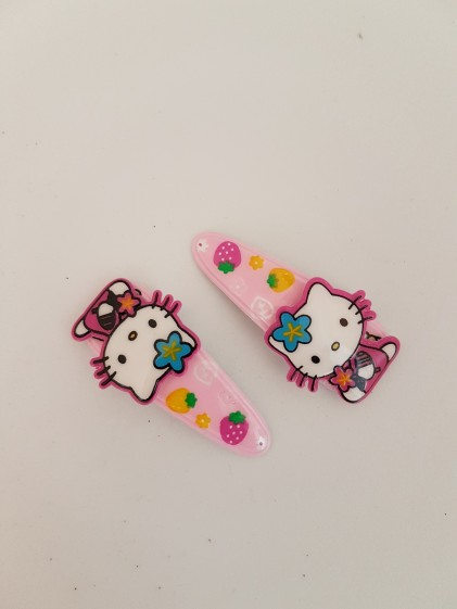 Hårclips Hello Kitty rosa 2 pack