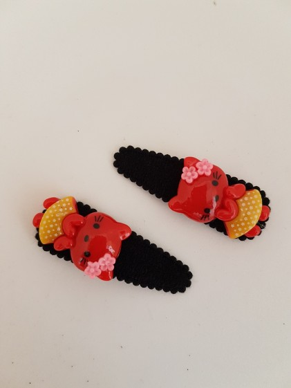 Hårclips Hello Kitty röd 2 Pack