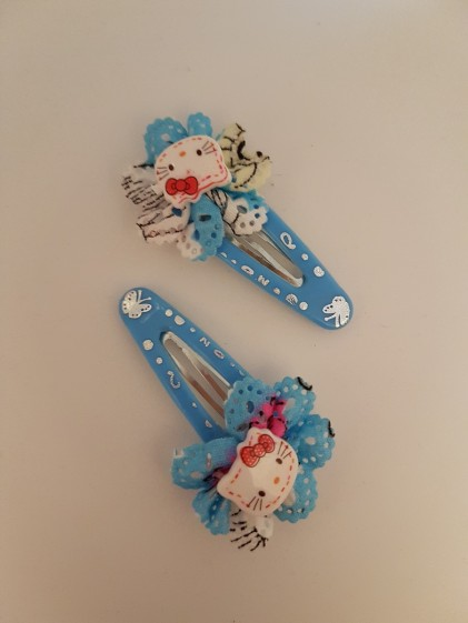 Hårclips Hello Kitty blå 2 pack