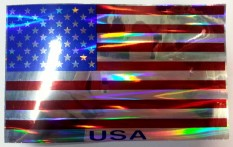 USA flagga metallic