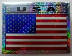 Flagga USA metallic