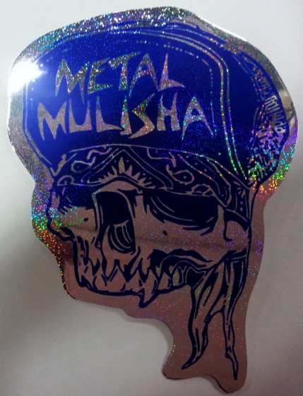 Döskalle Metal Mulisha blå metallic